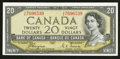Canadian Currency: , BC-33a $20 1954 Devils Face. ...