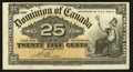 Canadian Currency: , DC-15b 25 Cents 1900. ...