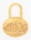 "Luxury Accessories:Accessories, Hermes Gold 2003 ""Annee Mediterranee"" Cadena Charm Lock. Good toVery Good Condition. 1"" Width x 1.5"" Height. ..."
