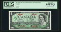 Canadian Currency: , BC-45aS $1 1967 Commemorative Serial Specimen . ...