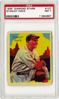 Baseball Cards:Singles (1930-1939), 1936 Diamond Stars Stanley Hack #107 PSA NM 7. During the Goldenage of the 1930's bubble gum card era National Chicle conce...