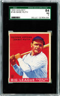 Baseball Cards:Singles (1930-1939), 1933 Goudey Babe Ruth #149 SGC 84 NM 7. This is one of the threebust posed images of Babe Ruth included in the 1933 Goudey ...