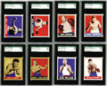 Boxing Cards:General, 1948 Leaf Boxing SGC-Graded Collection (30). Offered is a thirtycard SGC graded collection of 1948 Leaf Boxing cards. This ...