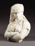 Marble, A Beautiful Orientalist-Style Bust. Unknown artist. Marble. ...
