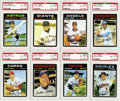 Baseball Cards:Lots, 1971 Topps PSA-Graded NM-MT 8 Collection (143). Tremendousopportunity to acquire a large group of high-graded examplesfrom...