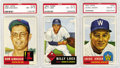 Baseball Cards:Lots, 1953 Topps PSA-Graded NM-MT 8 Collection (3). This trio ofhigh-grade 1953 Topps baseball cards is a nice start on building...