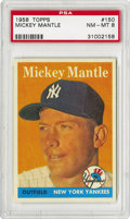 Baseball Cards:Singles (1950-1959), 1958 Topps Mickey Mantle #150 PSA NM-MT 8 This is one of the better-known images of Mantle from the 1950s Topps series. In t...