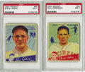 "Baseball Cards:Lots, 1934 Goudey PSA-Graded Pair. Both of these specimen are from the 1934 Goudey ""high series"", which are difficult to find in h..."