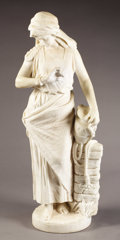 Marble, Young Woman with Urn. . G. Gambogi, Italian. 19th - 20thCentury. Marble. 35-5/8 x 12-1/2 x 9-3/4 inches. G. Gambogi...