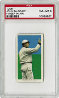 Baseball Cards:Singles (Pre-1930), 1909-11 T206 John McGraw Finger in Air PSA NM-MT 8. For many yearsJohn McGraw was the dominant figure in American baseball...