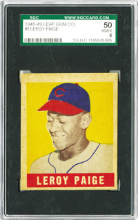 1948-49 Leaf Leroy Paige SP #8 SGC 50 VG/EX 4. So what if he was forty-two years old at the time? It's still a rookie ca...