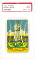 Baseball Cards:Singles (1930-1939), 1933 DeLong Lefty O'Doul #10 PSA NM 7. A tough Depression-era issuefeaturing Brooklyn's own Lefty O'Doul. Perfect centerin...
