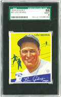Baseball Cards:Singles (1930-1939), 1934 Goudey Lou Gehrig #37 SGC 88 NM/MT 8. When it comes toGoudey's celebrated sophomore issue, it just doesn't get much b...
