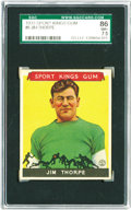 Football Cards:Singles (Pre-1950), 1933 Goudey Sport Kings Jim Thorpe #6 SGC 86 NM+ 7.5. A stellar example of this superb football player, baseball player and...
