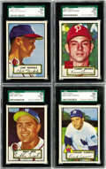 Baseball Cards:Lots, 1952 Topps Baseball SGC-Graded 92 NM/MT+ 8.5 Collection (4). Fromthe landmark 1952 Topps baseball set; offered are four car...
