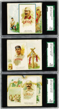 Baseball Cards:Lots, 1888 Allen & Ginter World's Champions N43 Baseball SGC-GradedCollection (3). Difficult to find in any condition, the seldom...