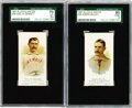 Baseball Cards:Lots, 1887 Allen & Ginter N28 SGC-Graded Pair. These two very earlybaseball tobacco cards have withstood the test of time and rem...