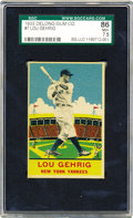 Baseball Cards:Singles (1930-1939), 1933 Delong Gum Co. Lou Gehrig #7 SGC 86 NM+ 7.5. Emerging the sameyear as the first great Goudey set, the Delong issue li...