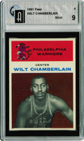 Basketball Cards:Singles (Pre-1970), 1961-62 Fleer Wilt Chamberlain GAI Mint 9 Arguably the mostimportant card in the basketball card collecting hobby, this ult...