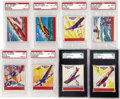 Non-Sport Cards:General, 1941 Sky Birds Completely Graded Set (24). Every card has been professionally graded. Impressive 1941 Goudey Sky Birds issue...