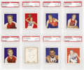 Basketball Cards:Lots, 1948 Bowman Basketball PSA NM-MT 8 Collection (8). Offered is anice group of eight 1948 Bowman Basketball including three c...