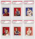 Basketball Cards:Lots, 1948 Bowman Basketball PSA NM 7 Collection (13). Offered is a nicegroup of 1948 Bowman Basketball including 7 cards from th...