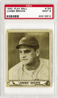 Baseball Cards:Singles (1940-1949), 1940 Play Ball Jumbo Brown #154 PSA Mint 9. Following up on its initial success in 1939, Gum Inc. returned with a larger se...