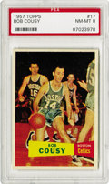 Basketball Cards:Singles (Pre-1970), 1957-58 Topps Bob Cousy #17 PSA NM-MT 8. Bob Cousy was regarded asthe first great point guard in the NBA. Over his career ...