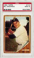 Baseball Cards:Singles (1960-1969), 1962 Topps Bill Skowron #110 PSA Mint 9. The 1962 topps issue is so hard to find in any high quality due to the brown borde...