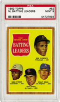 Baseball Cards:Singles (1960-1969), 1962 Topps NL Batting Leaders #52 PSA Mint 9. With susceptible brown borders, print imperfections and centering issues, it ...