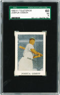 Baseball Cards:Singles (1950-1959), 1950-51 Toleteros Joshua Gibson SGC 60 EX 5. One can only imaginethe life Josh Gibson had in Puerto Rico with the magnitud...