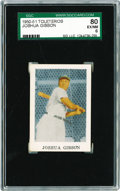 Baseball Cards:Singles (1950-1959), 1950-51 Toleteros Joshua Gibson SGC 80 EX/NM 6. The Toleteros cardsare a Puerto Rican issue. This one particularly can be n...