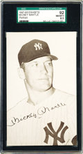 Baseball Cards:Singles (1940-1949), 1947-66 Exhibits Mickey Mantle Portrait SGC 92 NM-MT+ 8.5. Thisexhibit portrays Mickey in the 1960s as the leading star of...