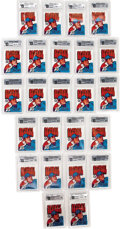 Baseball Collectibles:Others, 1972 O-Pee-Chee Baseball GAI-Graded Wax Packs Collection (24). Offered is are a tremendous collection of 1972 O-Pee-Chee wax...