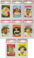 Baseball Cards:Lots, 1959 Topps PSA-Graded NM-MT 8 Collection (54). Excellentopportunity to obtain high-grade group from the 1959 Toppsbaseball...