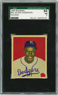 Baseball Cards:Singles (1940-1949), 1949 Bowman Jackie Robinson #50 SGC 84 NM 7. This distinctive issuehas long been a favorite among collectors, who love the ...