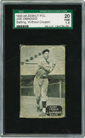 Baseball Cards:Singles (1930-1939), 1933-36 Zeenut PCL Joe DiMaggio Batting, Without Coupon SGC 20 Fair 1.5. This pose is a variation from the other example we ...