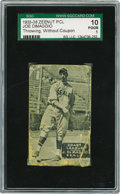 Baseball Cards:Singles (1930-1939), 1933-36 Zeenut PCL Joe DiMaggio Throwing, Without Coupon SGC 10Poor 1. Years before he was nicknamed Joltin' Joe, he was te...
