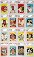 Baseball Cards:Sets, 1959 Topps High Grade Complete Set (572). It's not often that a setwith more than half of the cards graded is offered at au...