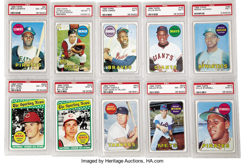1969 Topps Baseball High Grade Complete Set 664 Offered Is Lot