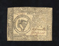 Colonial Notes:Continental Congress Issues, Continental Currency February 26, 1777 $8 Extremely Fine. The upperedge drops below the frame line on this note that has tw...