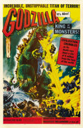 "Movie Posters:Science Fiction, Godzilla (Toho, 1956). One Sheet (27"" X 41""). ..."