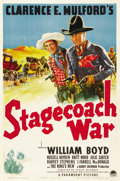 "Movie Posters:Western, Stagecoach War (Paramount, 1940). One Sheet (27"" X 41""). ..."