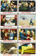 """Movie Posters:Hitchcock, North by Northwest (MGM, R-1966). Lobby Card Set of 8 (11"""" X 14"""").... (Total: 8 Items)"""