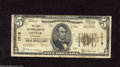 National Bank Notes:Colorado, Denver, CO - $5 1929 Ty. 2 The First NB Ch. # 1016 This Westernnote from the Mile High City has a few holes due to som...