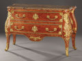 Furniture : French, A FRENCH REGENCE-STYLE GILT BRONZE, ROSEWOOD, AND AMARANTH COMMODE.Paris, France, Circa 1820-1850. Marks: PEYTAT-PARIS ...