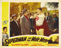 "Movie Posters:Action, Superman and the Mole Men (Lippert, 1951). Lobby Card (11"" X 14"")...."