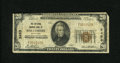 National Bank Notes:Maryland, Baltimore, MD - $20 1929 Ty. 1 The National Marine Bank Ch. # 2453.The upper right-hand corner tip has been clipped, wh...