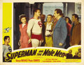 "Movie Posters:Action, Superman and the Mole Men (Lippert, 1951). Lobby Card (11"" X 14""). ..."