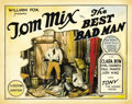 "Movie Posters:Western, The Best Bad Man (Fox, 1925). Title Lobby Card (11"" X 14""). ..."